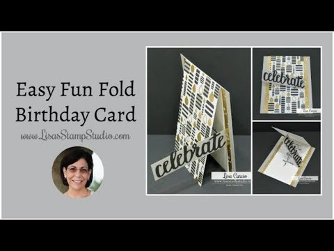 🔴Easy Fun Fold Birthday Card
