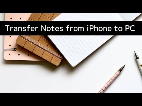 How to Transfer Notes from iPhone to Computer