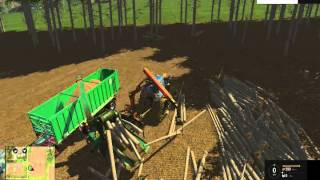 Episode 5: Farming Simulator 2015 Making Wood Chips again Chipper clogged with logs
