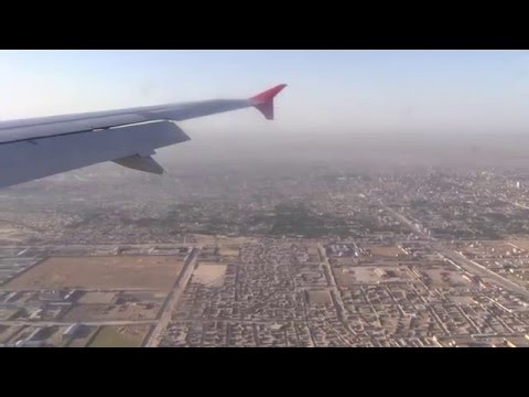 Landing in Mazar-i-Sharif (Afganistan) Turkish Airlines -Airbus A320