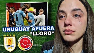 URUGUAY vs COLOMBIA | Reacción de HINCHA URUGUAYA *llorando* | Copa América 2021
