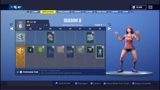 FORTNITE NANA NANA EMOTE 1 HOUR!! (SEASON 8 BATTLE PASS)