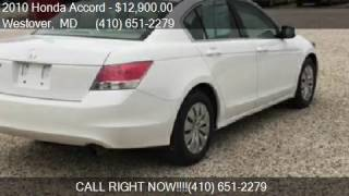 2010 honda accord lx 4dr sedan 5a for sale in westover md 2