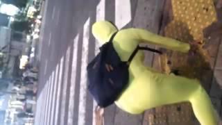 ガツレモン参上!初めて全身タイツ着て渋谷で踊ってみました〜(女です)