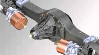 Rear axle suspension