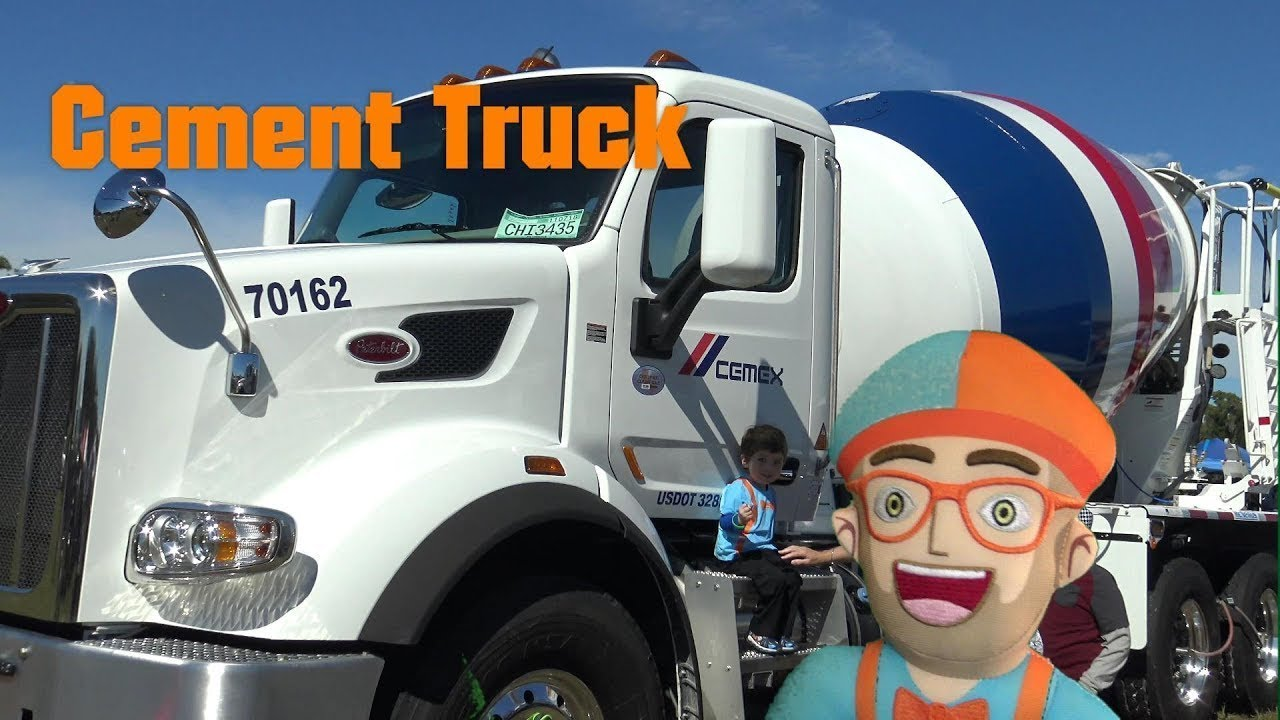 Blippi #1 Fan Toddler Cement Truck | song and video for ...