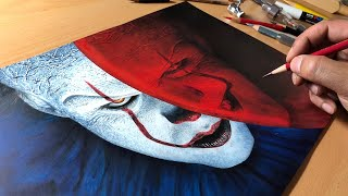Drawing Pennywise (IT) Timelapse | Artology