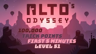 Alto's Odyssey - 100,000 Trick Points in First Five Minutes - Level 51