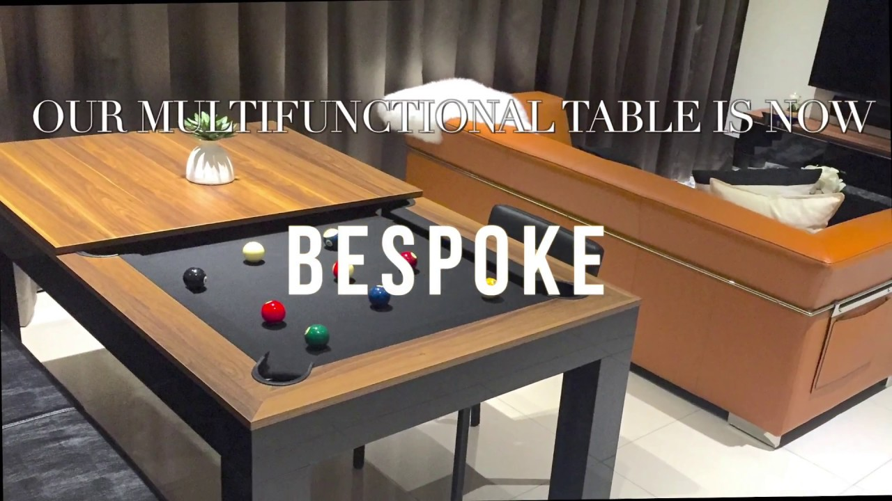 Customisable 4 In 1 Dining Pool Table