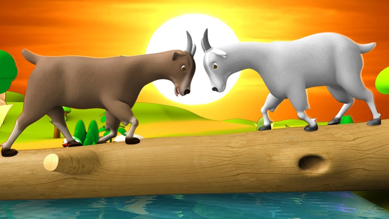 The Two Wise Goats 3D Animated Hindi Moral Stories for Kids | दो समझदार बकरी हिन्दी कहानी Tales