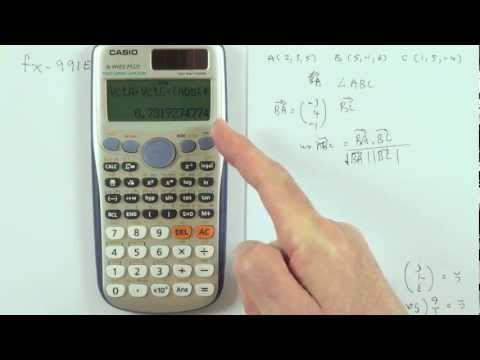 vector calculations on the casio fx991es plus calculator youtube