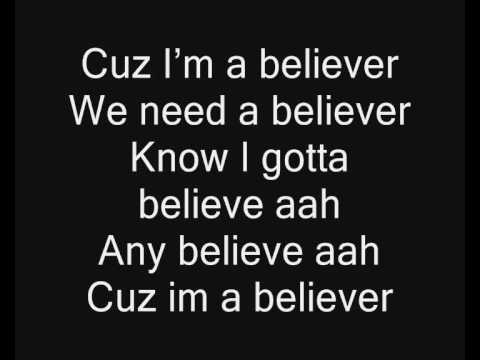 Timbaland I'm a believer Lyrics HQ