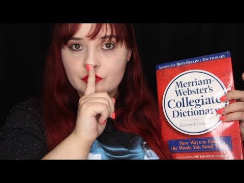 Almost Inaudible Reading Definitions 📖 (ASMR)