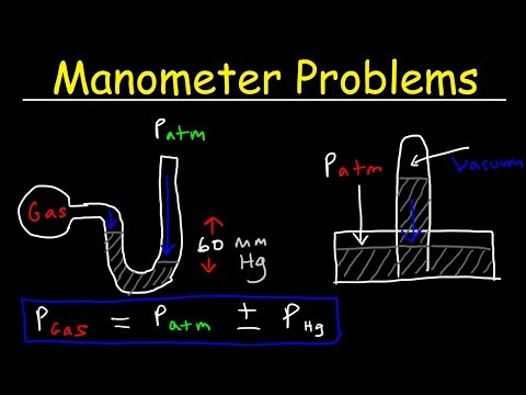 Manometer Pressure Problems, Introduction to Barometers - Measuring Gas & Atmospheric Pressure