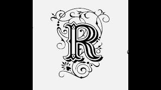 طريقة كتابة حرف R مع زخرفة الحرف تعليم الرسم للمبتدئين Youtube