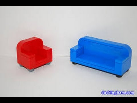 how to make a simple lego sofa bauhaus usa build couch youtube