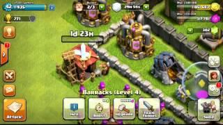 Clash Of Clans Upgrading Level 7 Barracks!