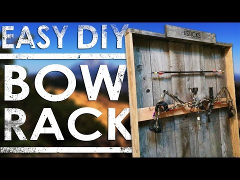 How To Make A Homemade Bow Rack | DIY Bow Rack | The Sticks Outfitter | EP. 8
