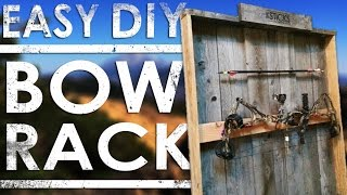 How To Make A Homemade Bow Rack DIY Bow Rack The Sticks Outfitter EP. 8