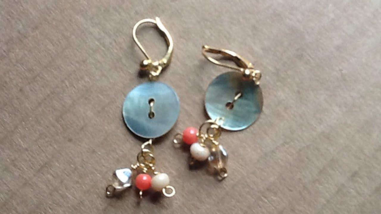 Create Sweet Drop Button Earrings