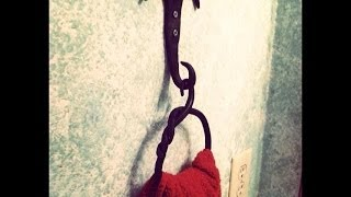 Hand Forged Towel Holder- Ring Style