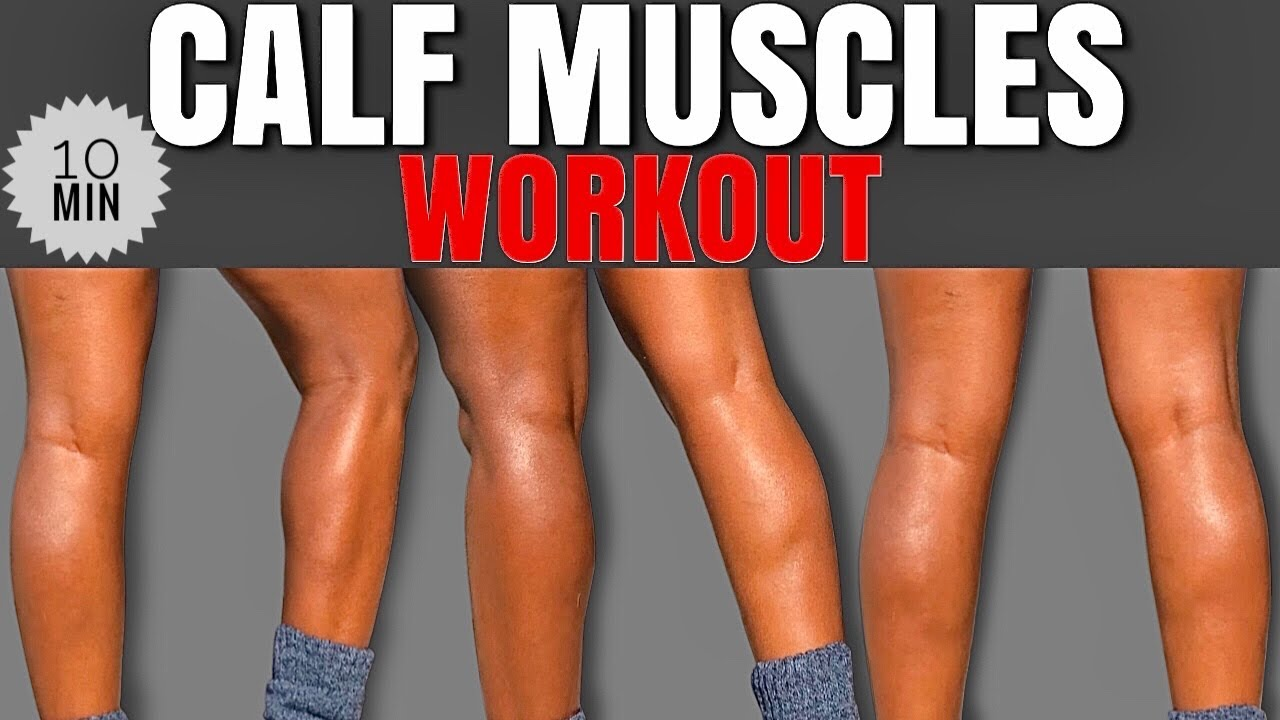 10 MIN CALF MUSCLE WORKOUT🔥FOR WOMEN | THICK, DEFINED & TONED At Home /No Equipment