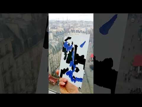 Carte poème Serge Airoldi poète Allirand artiste peintre graveur Paris Pompidou Musée museum