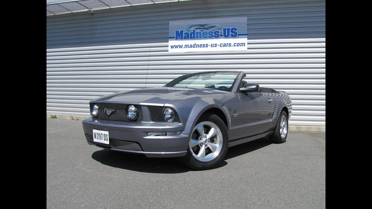 ford mustang gt cabriolet 2006 youtube. Black Bedroom Furniture Sets. Home Design Ideas