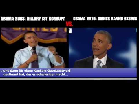 Obama über Clinton: Für wie dumm man die Wähler verkauft! How stupid to sell the Us-voters!