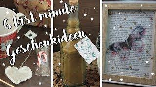 6 LAST MINUTE GESCHENKIDEEN | Geschenke für weihnachten selber machen [DIY Ideen]
