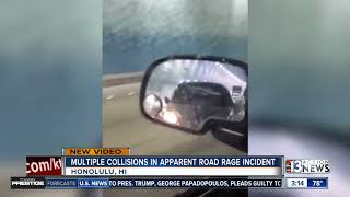 Multiple collisions in Honolulu road rage incident caught on camera