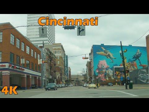 Cincinnati Ohio, USA 4K Downtown Drive-Thru
