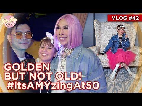 GOLDEN BUT NOT OLD! #itsAMYzingAt50 | Fun Fun Tyang Amy Vlog 42