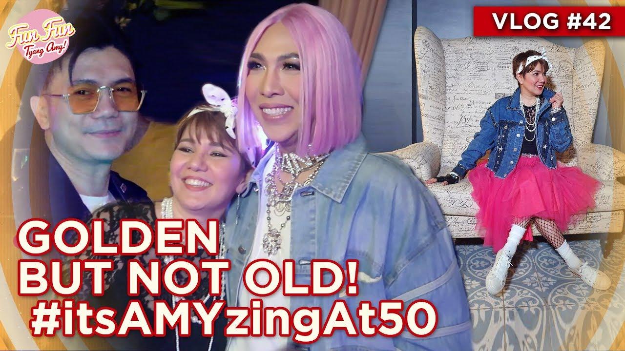 GOLDEN BUT NOT OLD! #itsAMYzingAt50   Fun Fun Tyang Amy Vlog 42