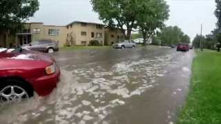Cheyenne Wyoming Flash Flood/ Tornado July 13th 2014 GoPro