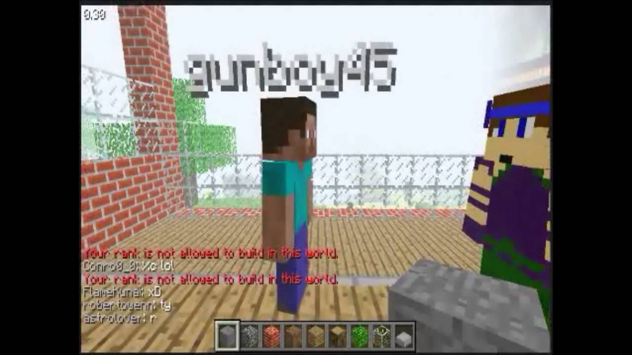 Minecraft classic multiplayer part 1 YouTube
