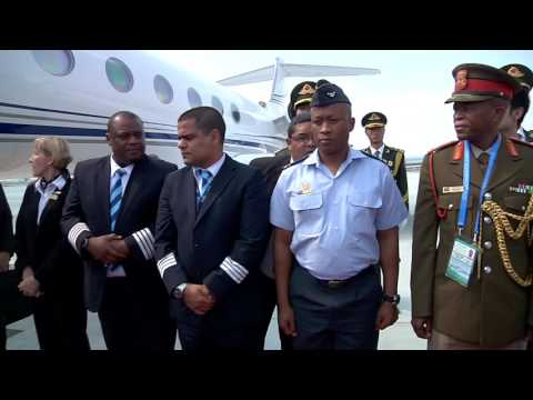 President Jacob Zuma arrives in China for the G20 Summit