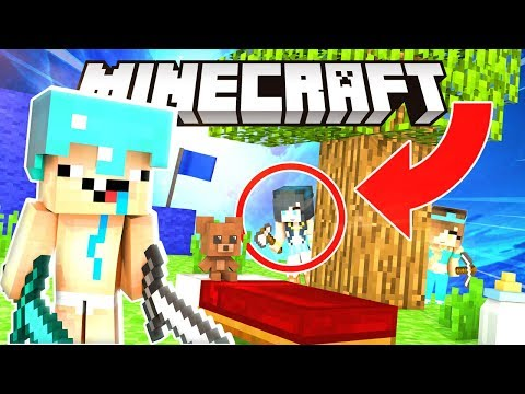 MINECRAFT BABY BED WARS! THEY CANT CATCH US!!