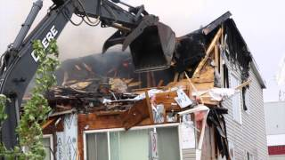 Fire at Polaris Apartments, Yellowknife - June 14, 2015