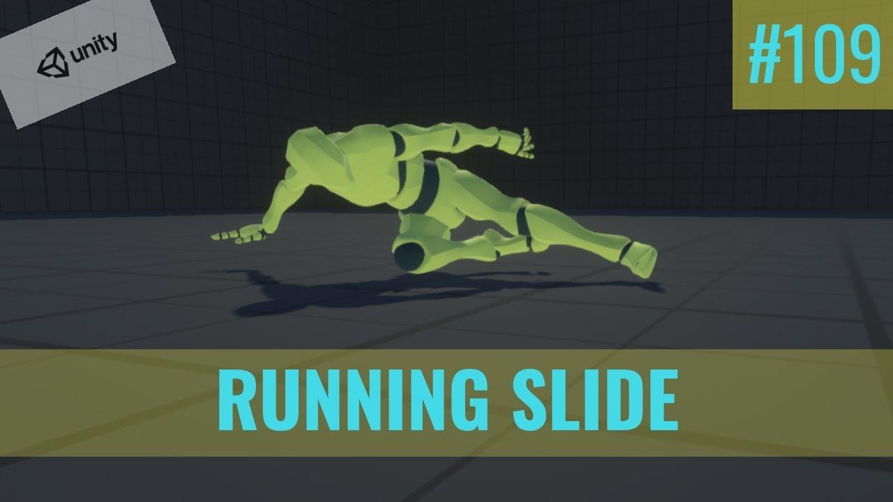 #109 Running Slide (Part1) - Unity Tutorial
