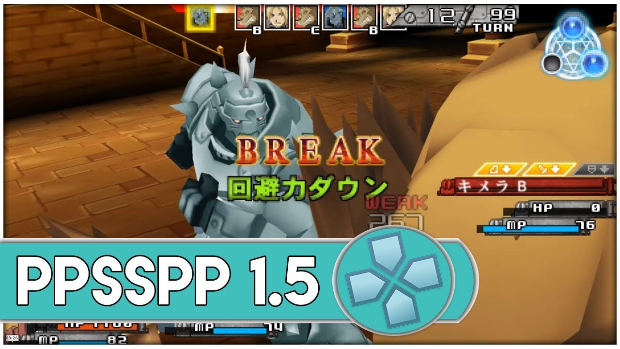 PPSSPP Emulator 1 5 4 [4x] | Fullmetal Alchemist: To the Promised Day  [1080p] PSP Emulator [#1]