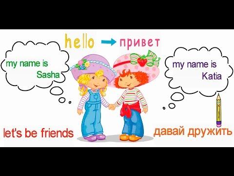 Как будет по английски мое имя