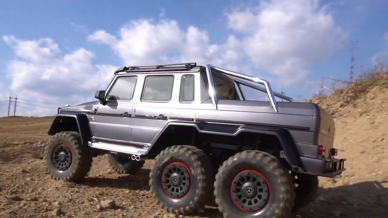 Traxxas Trx 6 Mercedes Benz G 63 Amg 6x6 Unboxing Upgrade First Run Youtube