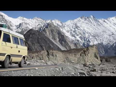 German Couple Travelling on Karakorum Highway Beautiful Pakistan HD