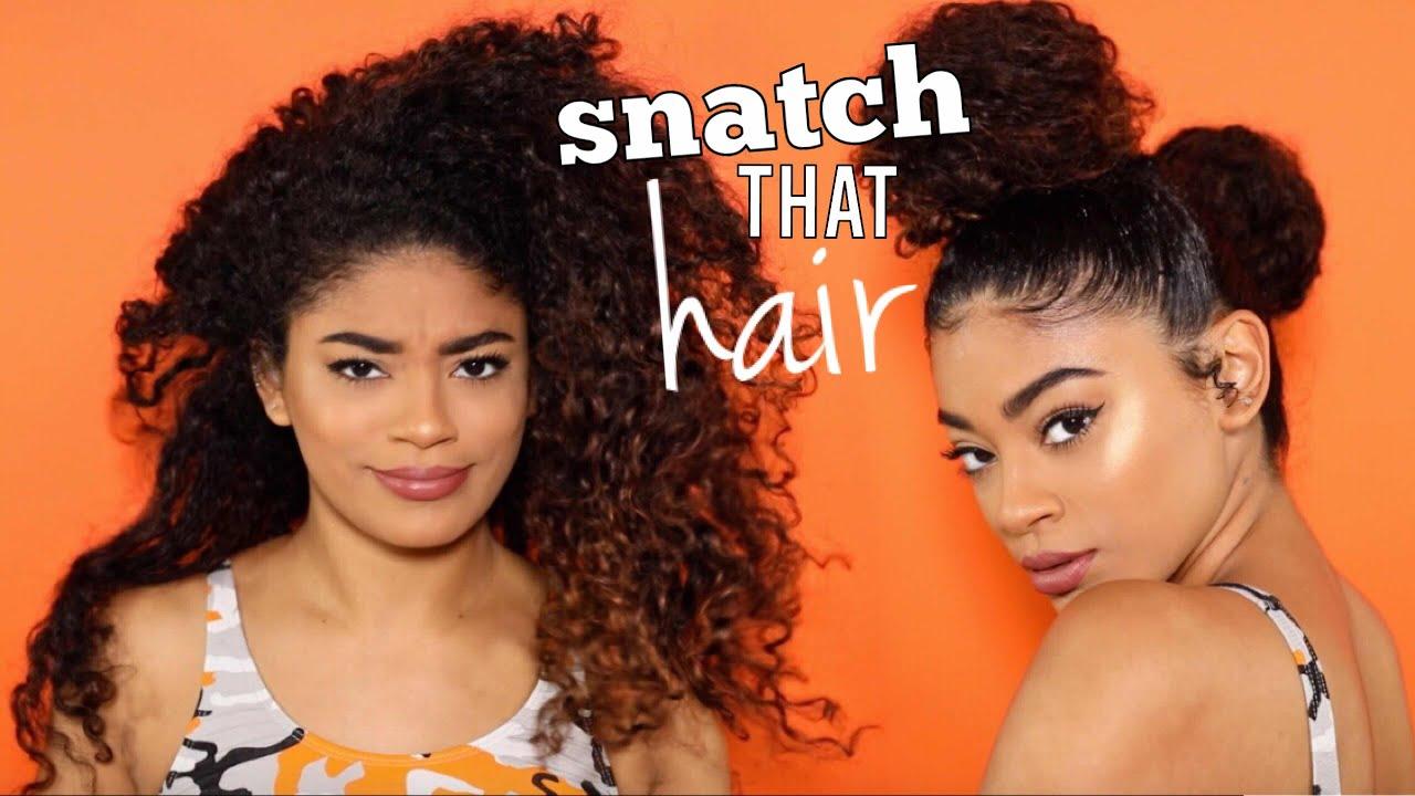 2 buns | 3 day old curly hair slay | jasmeannnn