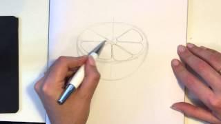 Drawing half an orange