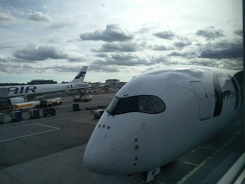 Full flight on the A350 from Bangkok to Helsinki with Finnair AY90 PT1