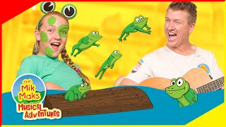 Five Little Speckled Frogs | Kids Songs and Nursery Rhymes | The Mik Maks Live Action