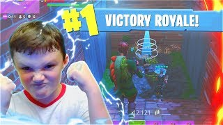 My LITTLE BROTHER Reacts To His FIRST WIN In Fortnite Battle Royale Mobile! (Fortnite Battle Royale)