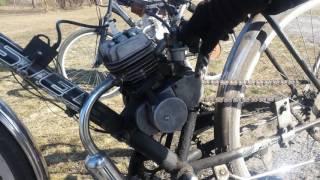 Обзор на веломотор f80 ,  с автоматическим  сцеплением .